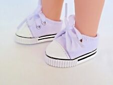 "White Canvas Sneakers Fits Wellie Wishers 14.5"" American Girl Clothes Shoes"