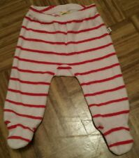 old navy white and red striped footed bottoms. 3/6 months