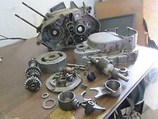 1970 Suzuki TS90 Engine Case Flywheel Magneto Forks Clutch Cover Etc Parts Lot