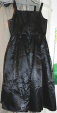 Dressy Dress Black Wedding Party Red Tie Girl size 8 New