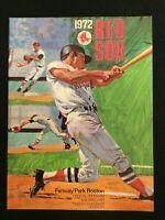 Vintage 1972 BOSTON RED SOX  scorecard/program vs OAKLAND A'S  (Scored)  M1518