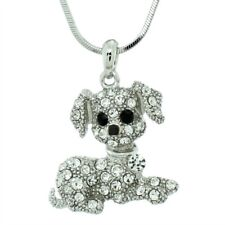 DOG W Swarovski Crystal Beagle Puppy Pet Friend Pendant Necklace Gift Charm