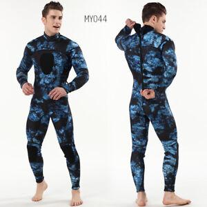 3mm Neoprene Camouflage full bodysuit Wetsuit diving suit Warm Zipper watersuit
