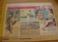 Gary Cooper Marie Wilson Seein' Stars Feg Murray 1930s Sunday color panel 4a