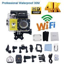 4K 2'' Ultra HD 1080P Sports WiFi Cam Action Camera DV HDMI Video Recorder 16MP