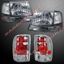 Euro Clear Headlights w/ Corner Lights and Taillights for 1998-1999 Ford Ranger