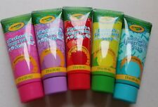 5 Crayola Kids Bathtub Fingerpaint Soap 3oz Each Red Purple Blue Pink Green New