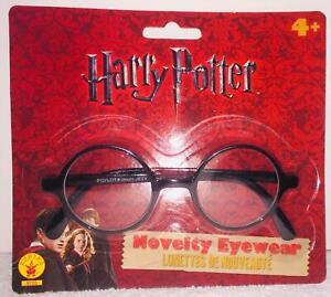 HARRY POTTER ROUND BLACK FRAMED GLASSES COSTUME ACCESSORY RU7259