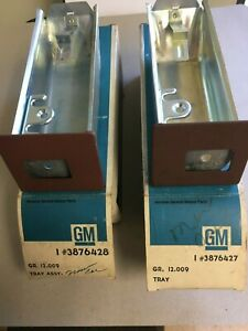 1965-66 Chevy Bel Air Biscayne and Impala RH and LH Ashtray pair OEM USA made