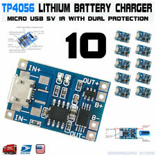 10pcs TP4056 Micro USB 5V 18650 Lithium Battery Charging Dual Protection DW01A