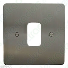 Deta G3311SC Grid Cover Plate - 1 Gang Flatplate Satin Chrome