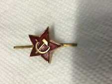 USSR Soviet RED Star Infantry  Hat/cap Metal Pin Badge