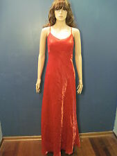 plus size 12 red satin sheer spaghetti strap formal dress by CHELSEA NITES