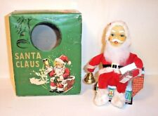 MINT 1950s BATTERY OPERATED SANTA CLAUS No. M-750 SITTING ON HOUSE CHRISTMAS TOY
