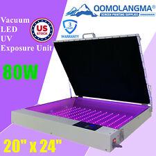 Us Stock Qomolangma Tabletop Precise 20 X 24 80w Vacuum Led Uv Exposure Unit