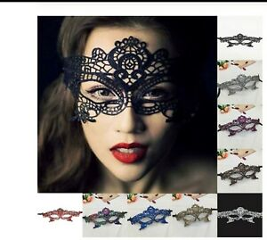 Halloween Lace Mask Masquerade Ball Venetian style Mask Costume Ball 9 Colours