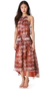 New Womens NWT Sleeveless Dress L Designer Elizabeth and James Finn White Brown