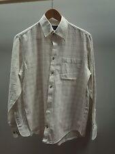 "Marks and Spencer Plaid Shirt 15"" Collar 100% Cotton  <J1154"
