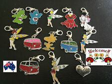 DISNEY TINKERBELL, CARE BEARS, ELMO, COMBI VAN, SISTER, CAT CLIP ON CHARMS 15W