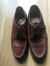 Polo Ralph Lauren Mens Brown Leather Upper Oxford Lace Up Casual Shoes Size 11D