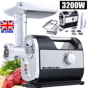 3200W Electric Meat Grinder Kitchen Food Sausage Mincer Stuffer Maker Machine UK