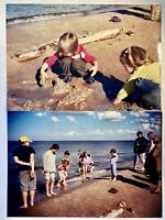 1980's Kids At The Beach Color Photograph Picture 2 Found Photos