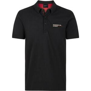POLO SHIRT Porsche Motorsport Mens Poloshirt Sportscar Cotton Black NEW!