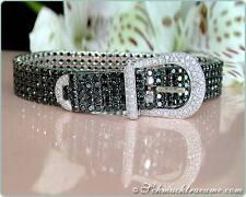 TOP-UNIKAT: Feinstes Schwarze Diamanten Gürtel Armband, 18.35 ct. WG750, 20.400€