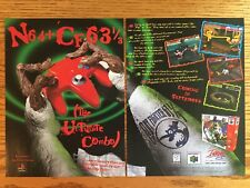 Clay Fighter 63 1/3 N64 Nintendo 64 1997 Vintage 2-Page Poster Ad Page Art Rare