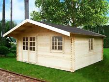 Gartenhaus HAMBURG ISO Blockhaus 500cm x 500cm - 40 mm