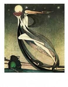 Vintage Kay Nielsen Art Deco Nouveau Print Fairy Tale 1975 Original