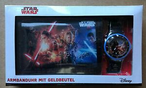 Star Wars Disney Lukasfilm Sammel-Uhr & Geldbeutel Original Neu OVP