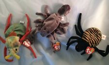 Spinner Spider Scurry Beatle & Sting Scorpion Ty Beanie Baby Babies RETIRED