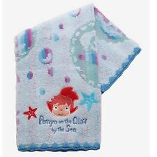 Ponyo Wash Cloth Towel On The Cliff By The Sea 13.5x13 100% Cotton Anime