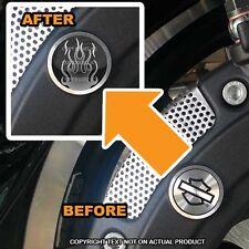 Brembo Front Brake Caliper Insert Set For Harley - GREY ROD FLAMES - 075