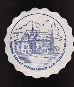 Pilsdeckchen - Papieruntersetzer Neustadt - Thüringer Export - Bierbrauerei