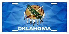 OKLAHOMA State Flag  Custom License Plate State Emblem Paper Version