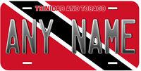 Trinidad and Tobago Flag Any Name Novelty Car License Plate
