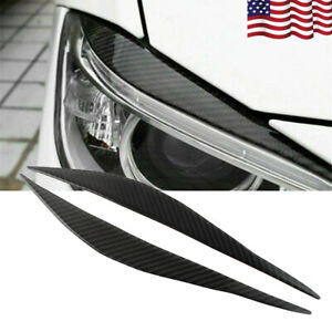 2x Car Headlight Stickers Kit Cover Soft Carbon Fiber Scratch Protection for BMW