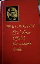 Vintage 1963Old Mr. Boston De Luxe Official Bartender's Guide Bar Recipes