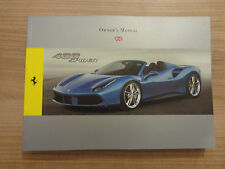 Ferrari 488 Spider Owners Handbook/Manual