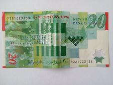 Original 20 New Sheqalim Shekel Banknote Polymer 60th Anniversary Israel 2008