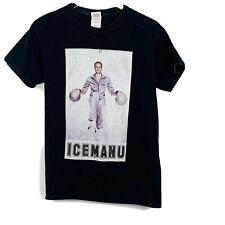 "Manu Ginobili ""Icemanu"" T-Shirt Size Small Black Short Sleeves"