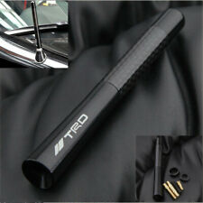 "Black Universal 4.7"" Carbon Fiber Sports Car Antenna Adjustable TRD Logo Emblem"