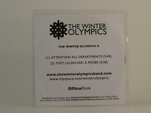 THE WINTER OLYMPICS ATTENTION ALL DEPARTMENTS (H1) 2 Track Promo CD Single White
