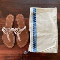 Tory Burch Mini Miller Leather Thong Sandals in Light Pink Size 5 * VERY RARE *