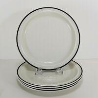 "Royal Doulton Ting Brown 10"" Dinner Plates 4 pc Sets Lambeth Stoneware England"