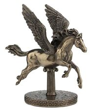 "6.5"" Pegasus On Zodiac Base Statue Fantasy Magic Figurine Flying Horse Decor"