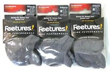 3 Pairs Feetures High Performance Socks Cushion No Show Tab Medium Heather Gray