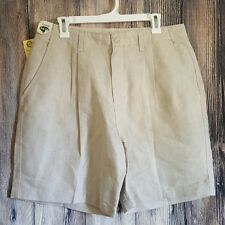 NEW Northern Reflections Khaki tan shorts pleated front pockets 15 / 16  Long